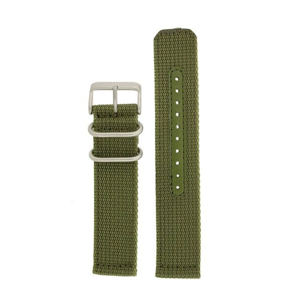 세이코 밀리터리 그린 시계줄 Seiko Nylon Watch Band Fits Seiko Watches Strap Military Green Stainless