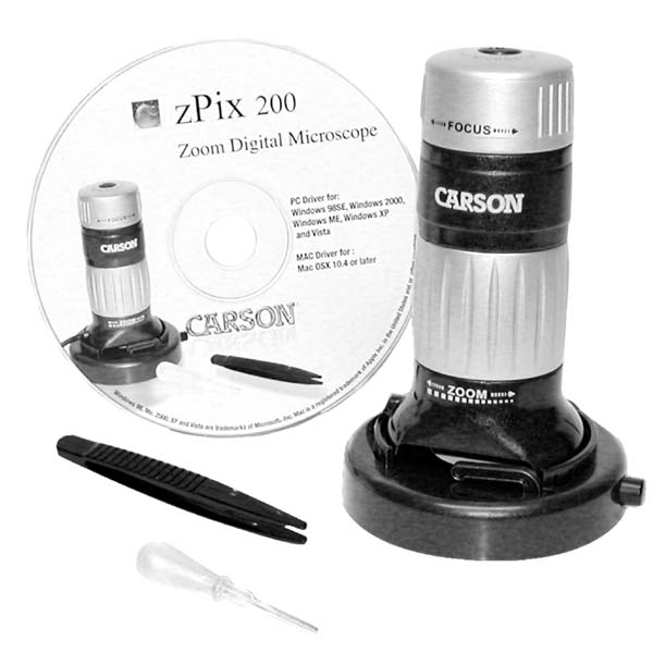 칼슨 디지털 줌 현미경/ Carson zPix 200 Digital Zoom 36-176x Microscope (MM-740)