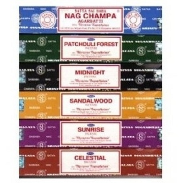 향수/Set of 6 Incense Nag Champa Sunrise Sandalwood Midnight Patchouli Celestial