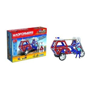 맥포머스 블럭세트/Magformers Magnetic Building Construction Set-33 Piece XL Cruisers Emergency Set